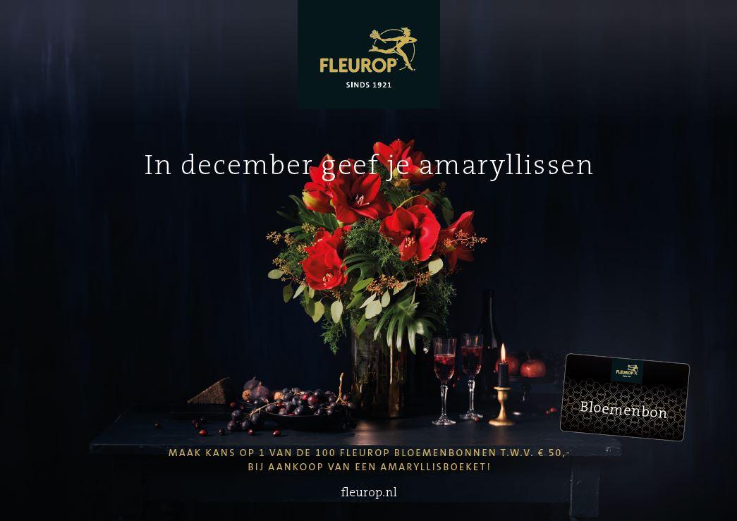 Shopper activatie amaryllis bij Fleurop Nederland