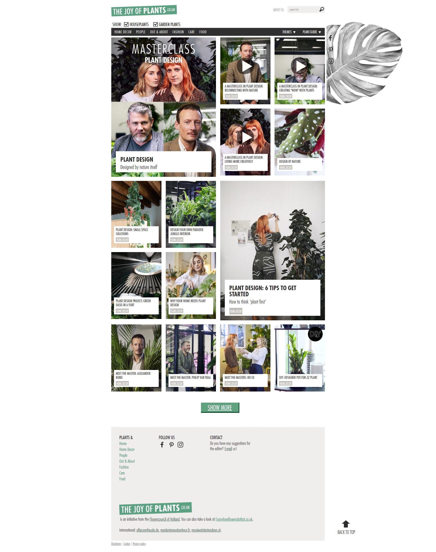 Plant Design op onze consumentenwebsite