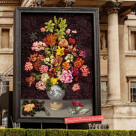 Life imitates art: flowers take over the National Gallery
