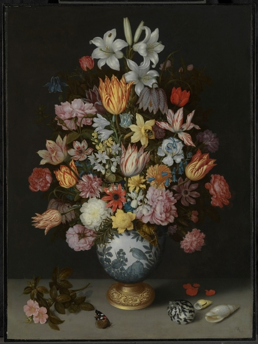 Copyright: A Still Life of Flowers in a Wan-Li Vase 1609-10 © The National Gallery, London